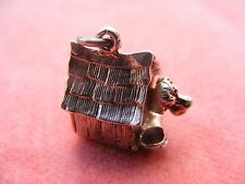 VINTAGE STERLING SILVER CHARM KENNEL OPENS TO A DOG