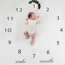 Newborn Baby Number Milestone Blanket for Photography Photo Props Shoots Studio