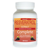 Trans-Resveratrol 100mg 180 Dose Antioxidant Weight Loss Natural Resveratrol