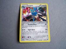 Carte pokémon - XY - Impact des destins 63/124 - Lucario HP110 - HOLO (anglaise)