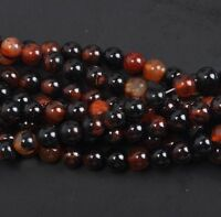 Natural Carnelian Round Gemstone Loose Spacer Stone Beads Jewelry 4/6/8/10MM