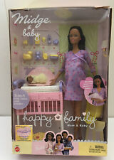 Barbie Happy Family Pregnant African American Midge Baby Girl Doll 2002 Mattel