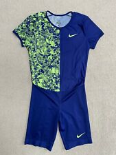 Nike Elite Pro Sponsored Track Athlete Sprint Running Race Speedsuit Large