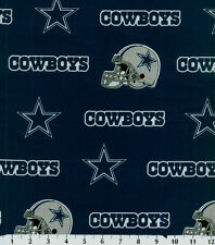 NFL DALLAS COWBOYS BLUE 100% COTTON FABRIC FAT QUARTER 18X29 INCHES
