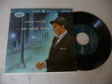 "FRANK SINATRA""WEE SMALL HOURS- disco 45 giri EP(4 songs)CAPITOL It 1960"""
