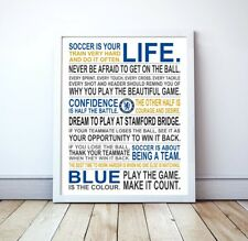 "Chelsea FC ""Soccer Is Your Life"" Manifesto Poster, 16"" x 20"""