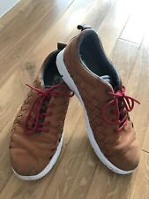 VANS trainers shoes sneakers lace up mens size uk 8 euro 42 tan
