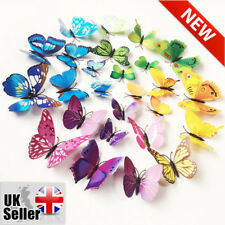 12 pieces/lot PVC 3D Butterflies Wall Stickers Decors