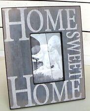 Bilderrahmen zum Aufstellen 10 x 15 cm Shabby Vintage Home sweet Home blau antik