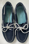 TIMBERLAND WOMEN'S EARTHKEEPERS CLASSIC NAVY BLUE SUEDE BOAT SHOES Size 9.5 VGC