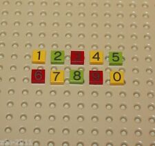 Lego Tile 1x1 with Numbers 0 - 9 NEW!!!!