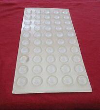 A Set of 50 Stick-On Polyurethane Circular Clear Feet 11mm. Diam. x 4mm. High