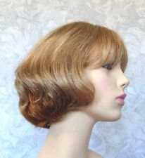 Short Thick Brown Blonde Under Curl Heat Resistant Full Synthetic Wig - #70