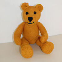 PRINTED KNITTING INSTRUCTIONS- SIMPLE TEDDY BEAR - EASY TO MAKE KNITTING PATTERN