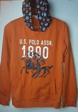 US POLO ASSN Kid Brown Polo Hoodie Top Pullover Age 13 - 14 Years