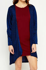 Womens Christmas Blue Metallic Cardigan Open Front Party S/M (UK 8-10)