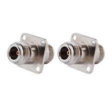 10 Stück N Buchse zu N Buchse 4 Loch Flanschmontage Kupfer HF Anschluss Adapter