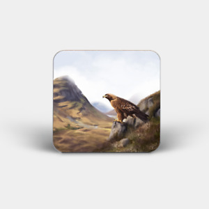 Highland Wildlife Coasters - Cork Back (Puffin, Stag, Deer, Highland Cow etc..)