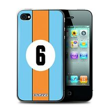 STUFF4 Phone Case for Apple iPhone Smartphone/Racing Car Stripes/Cover