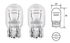 2 x T20 W21/5W 7443 580 Clear Glass Bulbs DRL/Indicator/Stop Brake/Tail Lights