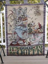 "Mary Engelbreit Its Good To Be Queen Wall Hanging Tapestry 25"" x 35"""