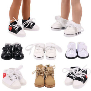 Hot Handmade 14'Inch American Girl Doll Accessories Doll Lace-Up Canvas Shoes