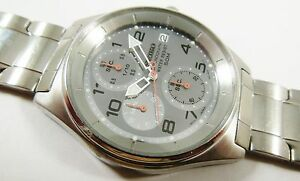 Seiko Silver Tone Stainless Steel V657-9061 Sample Watch NON-WORKING