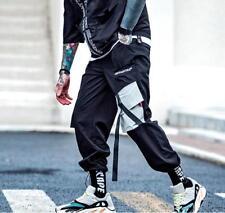 Pockets Cargo Pants Mens Casual Harem Joggers Baggy Harajuku Streetwear Hip Hop