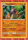 Gigalithe Holo 160pv 71/149 Soleil et Lune Carte Pokemon Rare neuve fr
