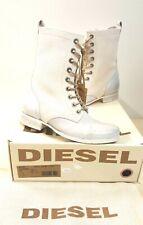 ё 003) Luxus Marken DIESEL Stiefel Boots Schuhe Gr. 36 Leder weiss NEU UVP260€