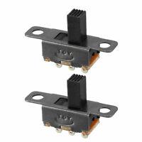 25Pcs 3-Pin 2 Position 1P2T SPDT ON-OFF Miniature Panel Vertical Slide Switch