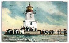 1911 Yacht Race Scene, Charlotte Harbor, NY Postcard