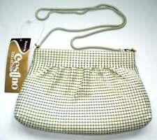 Nwt Vintage Cestino Collection Metal Mesh Women's Small Handbag Purse Ivory
