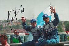 """Jacques Villeneuve & Damon Hill """"Williams"""" Autogramme signed 20x30 cm Bild"""