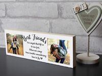 Large Personalised Best Friend Sister Plaque Keepsake Photo Block Present Gift