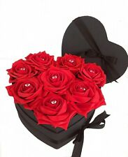 Large Red Flower Hat Box Bouquet- Forever Diamante Foam Roses