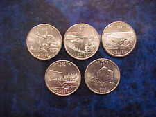 2005 PHILADELPHIA MINT STATE QUARTER SET OF 5 DIFFERENT STATE COINS UNCIRCULATED