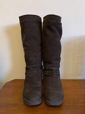 VGC Bronx Cally Knee High Slouch Sheepskin Boots Chocolate Brown UK 7.5 EU 41