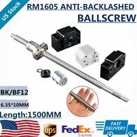 Ball Screw SFU1605 Antibacklash 1500mm(59 in)+BK/BF12+DSG16H+6.35*10mm Coupler