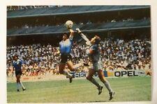 MARADONA ~ Hand of God ~  POSTCARD / PICTURE ARGENTINA FOOTBALL WORLD CUP 1986