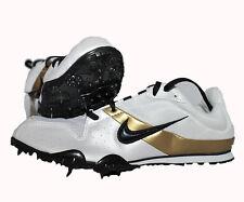 Nike Rival D PLUS 2 , oro blanco, mittelstrecke, larga distancia, GB 8,5