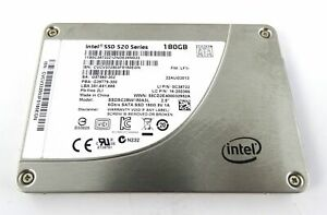 """Intel SSD 520 Series 180GB SSD 2.5"""" 6Gb/s SATA tested with no bad sectors"""