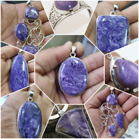 925 SOLID STERLING SILVER HANDMADE JEWELRY IN CHAROITE SET FOR VALENTINE GIFT
