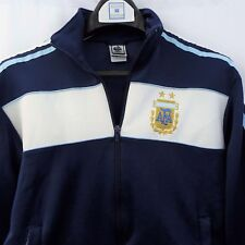 Adidas Men's S Navy Blue Argentina Soccer League Full Zip Warm Up Jacket