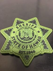 Hawaii Sheriff PVC Morale Patch (green)