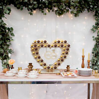 Mr & Mrs Ferrero Rocher Stand Chocolate Wedding Heart Display Stand Centerpiece