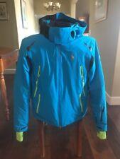 7535047104c Spyder легенда лыжная куртка-голубой синий-мужской медиум. идеальное  состояние.