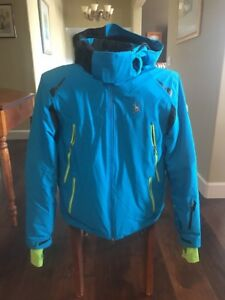 Spyder Legend Ski Jacket - Cyan/Blue - Men's Medium. Perfect Condition.