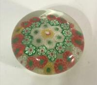 Vintage Art Glass Millefiori Paperweight Handblown