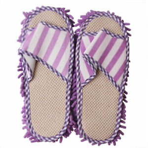1 Pairs Microfiber Durable Cleaning Mops Slippers Shoes House Floor Foot Shoes